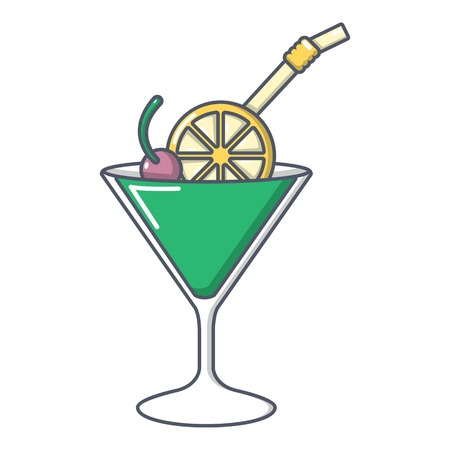 Cocktail icon. Cartoon illustration of cocktail vector icon for web