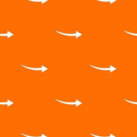 background next: Curve arrow pattern repeat seamless in orange color for any design. Vector geometric illustration