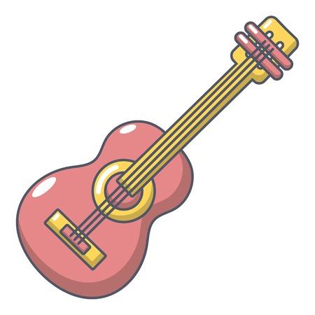 Guitar icon. Cartoon illustration of guitar vector icon for web