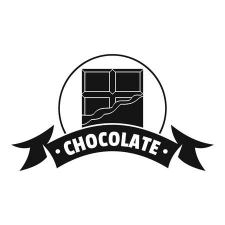 Chocolate   simple black style Illustration