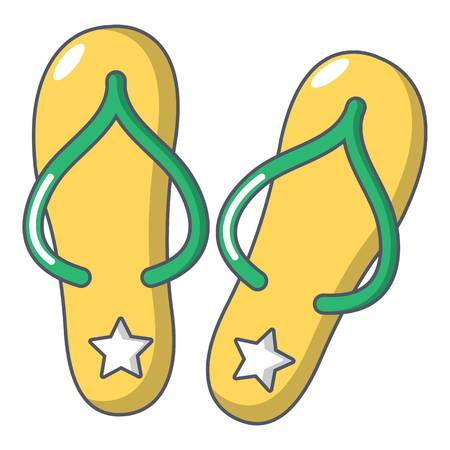 Flip flops icon, cartoon style
