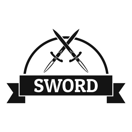 Sword warrior  simple black style