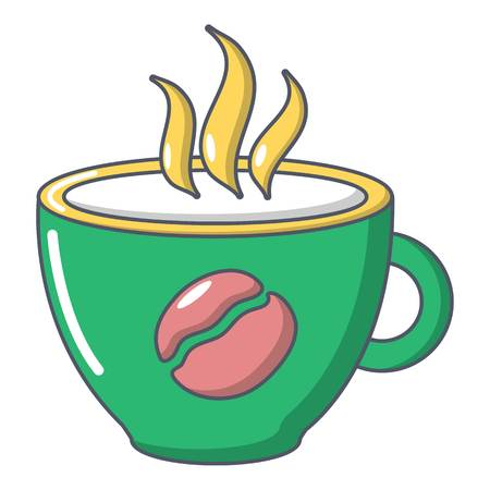 Cup coffee icon, cartoon style