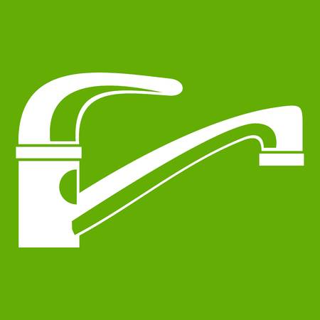 Water tap icon green