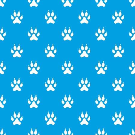 Cat paw pattern seamless blue