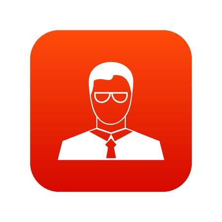 Teacher icon digital red