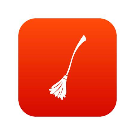 Witches broom icon digital red