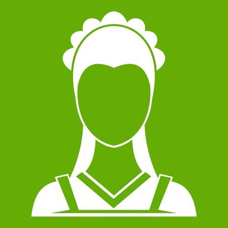 Maid icon green Illustration