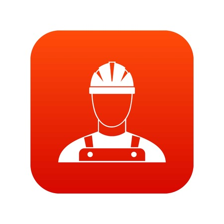 Builder icon digital red