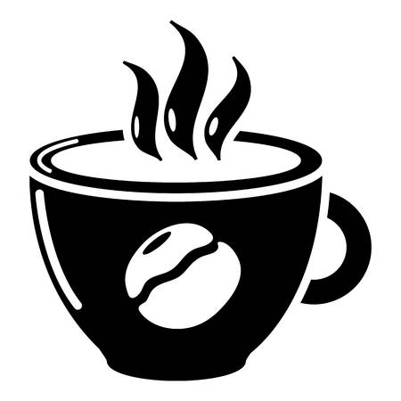 Cup coffee icon, simple black style Illustration