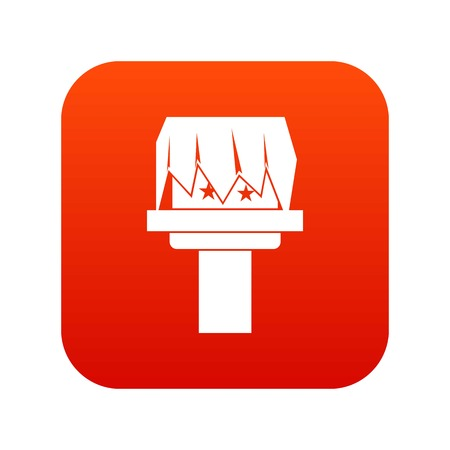 Box magic icon digital red