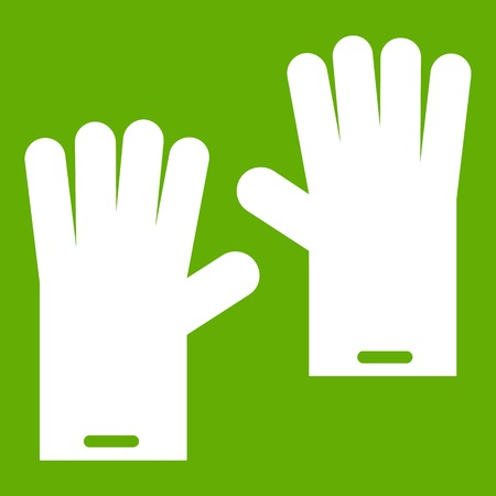 Rubber gloves icon green