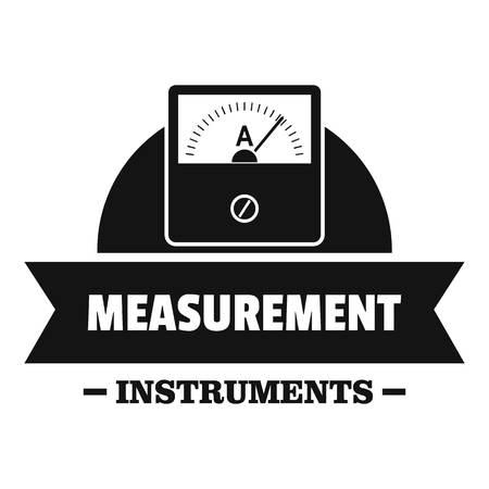 Measurement instrument simple black style
