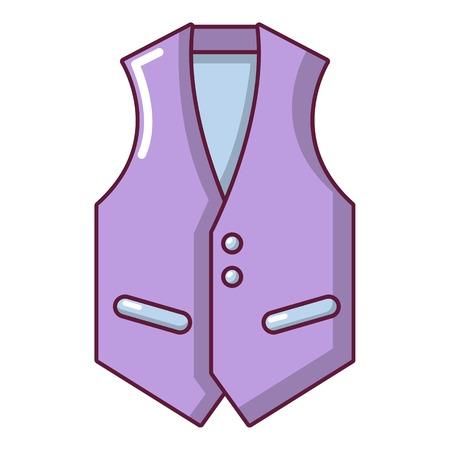 Waistcoat icon, cartoon style