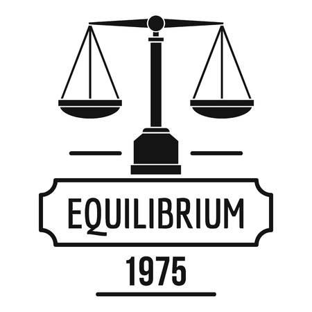 Equilibrium logo. Simple illustration of equilibrium vector logo for web Illustration