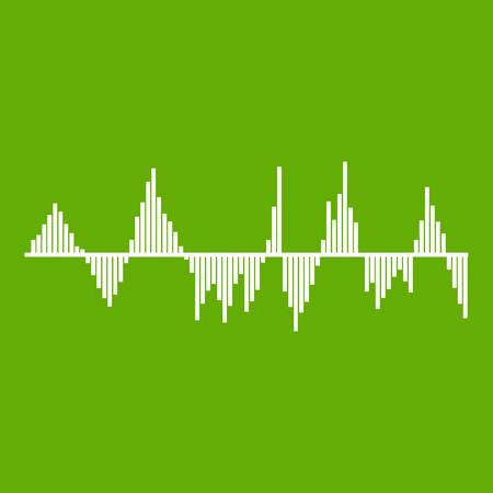 Audio digital equalizer technology icon green Illustration