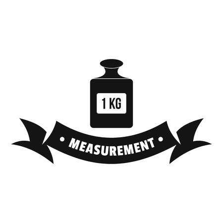 One kg logo. Simple illustration of one kg vector logo for web Illustration