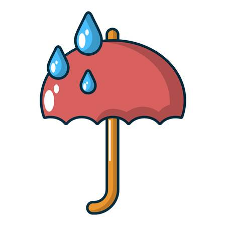 Umbrella icon. Cartoon illustration of umbrella vector icon for web.