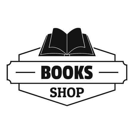 Book shop icon. Simple illustration of book shop vector icon for web.