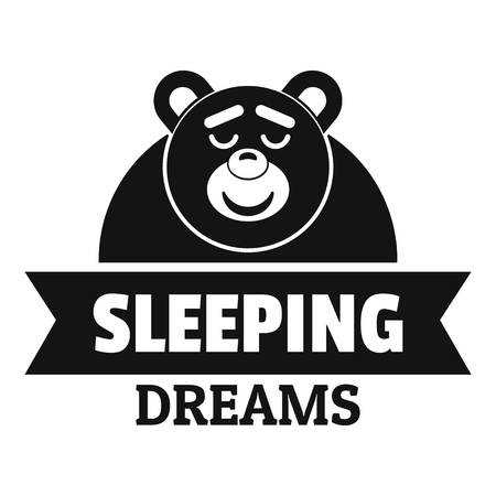 Sleeping dream icon. Simple illustration of sleeping dream vector icon for web.
