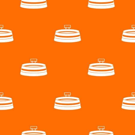 Stadium pattern repeat seamless in orange color for any design. Vector geometric illustration Illustration