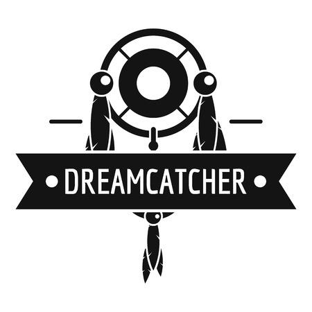 Dreamcatcher logo. Simple illustration of dreamcatcher vector logo for web Illustration