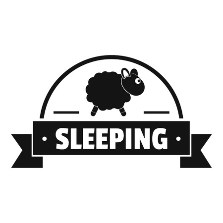 Sleeping sheep logo. Simple illustration of sleeping sheep vector logo for web Illustration