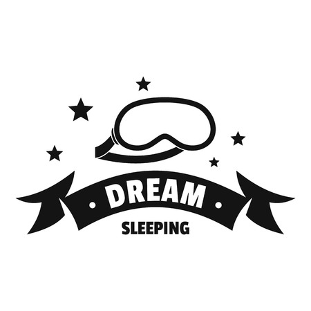 Sleeping logo. Simple illustration of sleeping vector logo for web Illustration