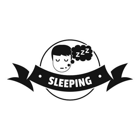 Sleeping bedroom logo. Simple illustration of sleeping bedroom vector logo for web Illustration