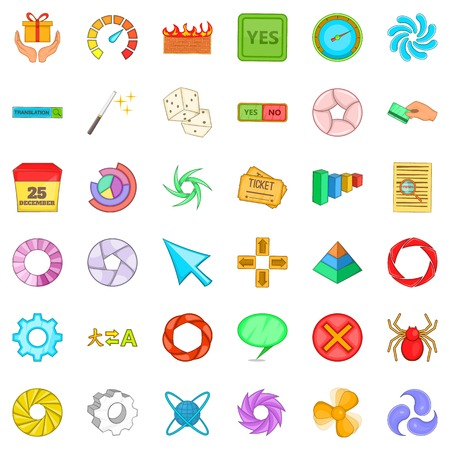 Downloading icons set. Cartoon style of 36 downloading vector icons for web isolated on white background