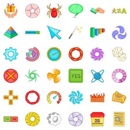 Translation icons set. Cartoon style of 36 translation vector icons for web isolated on white background