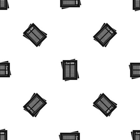 Will pattern repeat seamless in black color for any design. Vector geometric illustration  イラスト・ベクター素材