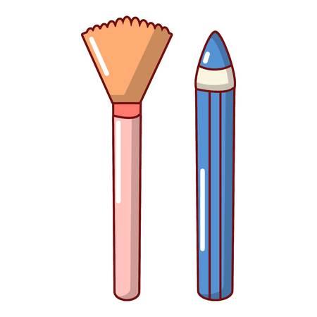 Brush pencil icon. Cartoon illustration of brush pencil vector icon for web