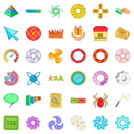 Interface icons set. Cartoon style of 36 interface vector icons for web isolated on white background