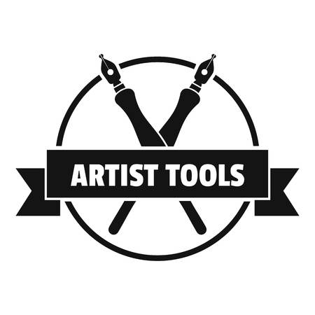 Painting shop logo. Simple illustration of painting shop vector logo for web Illustration