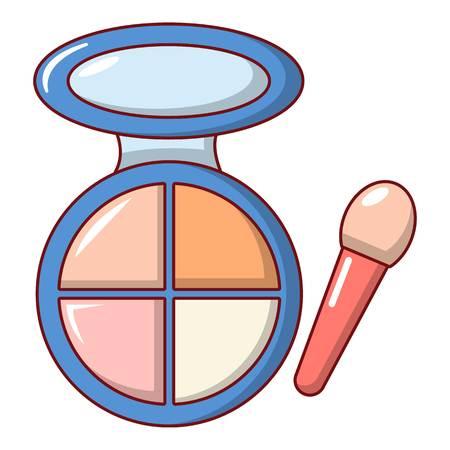 Face powder multicolor icon. Cartoon illustration of face powder multicolor vector icon for web Stock Photo