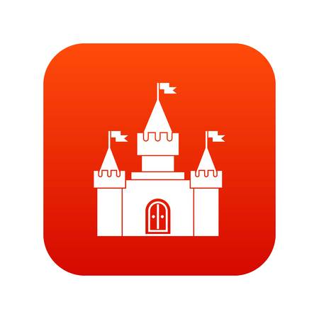 Fortress icon digital red