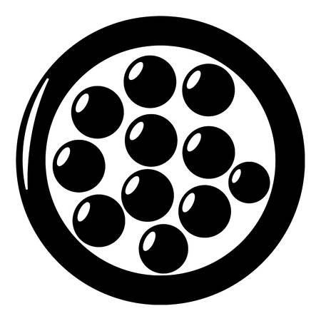 Face powder icon, simple black style