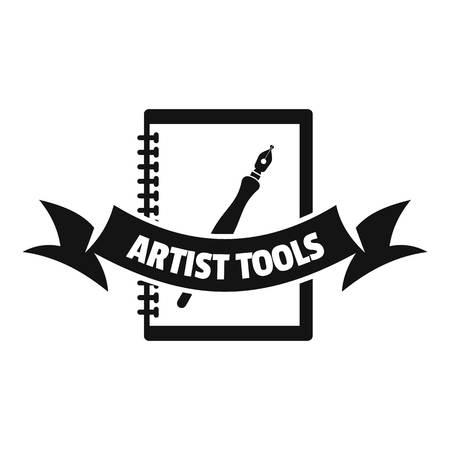 Artwork logo, simple black style Ilustração