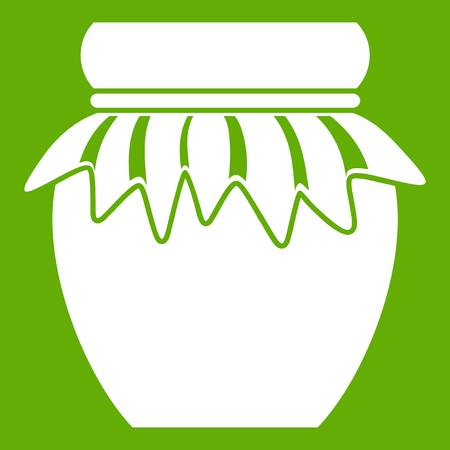 Jam in glass jar icon green