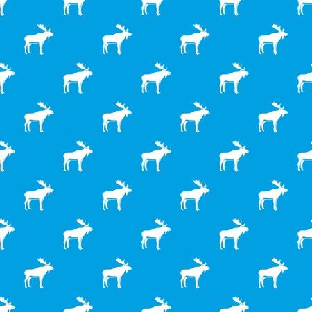 Deer pattern seamless blue