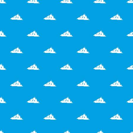 Canadian mountains pattern seamless blue