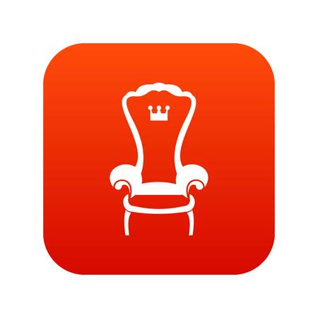 King throne chair icon digital red