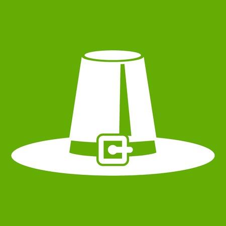 Pilgrim hat icon green
