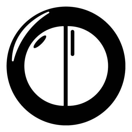 Face powder female icon, simple black style