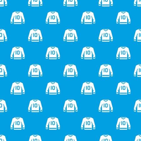 하키 유니폼 패턴 원활한 블루 일러스트
