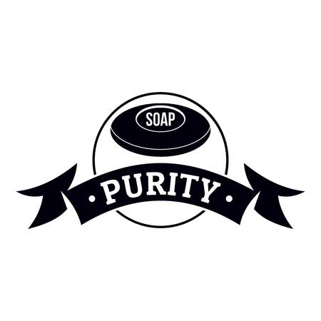 Soap purity logo, simple black style