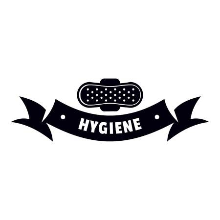 Hygiene wound logo, simple black style