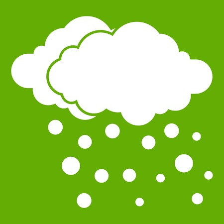 Cloud and snow icon green Illustration