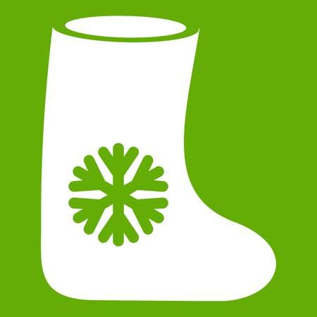 Vilt laarzen pictogram groen